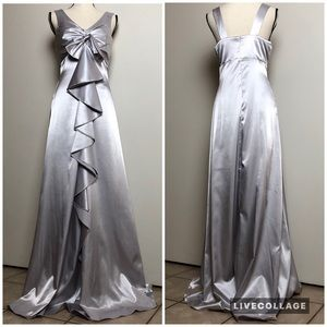 Dresses & Skirts - Silver Metallic Long Gown in Large - NWT